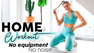 20 MIN FULL BODY HOME WORKOUT // No Equipment, No Noise
