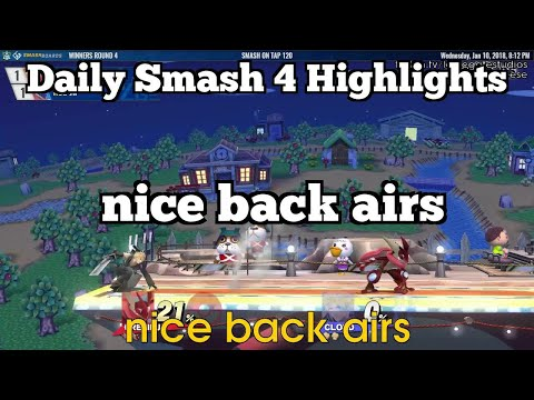 Daily Smash 4 Highlights: nice back airs
