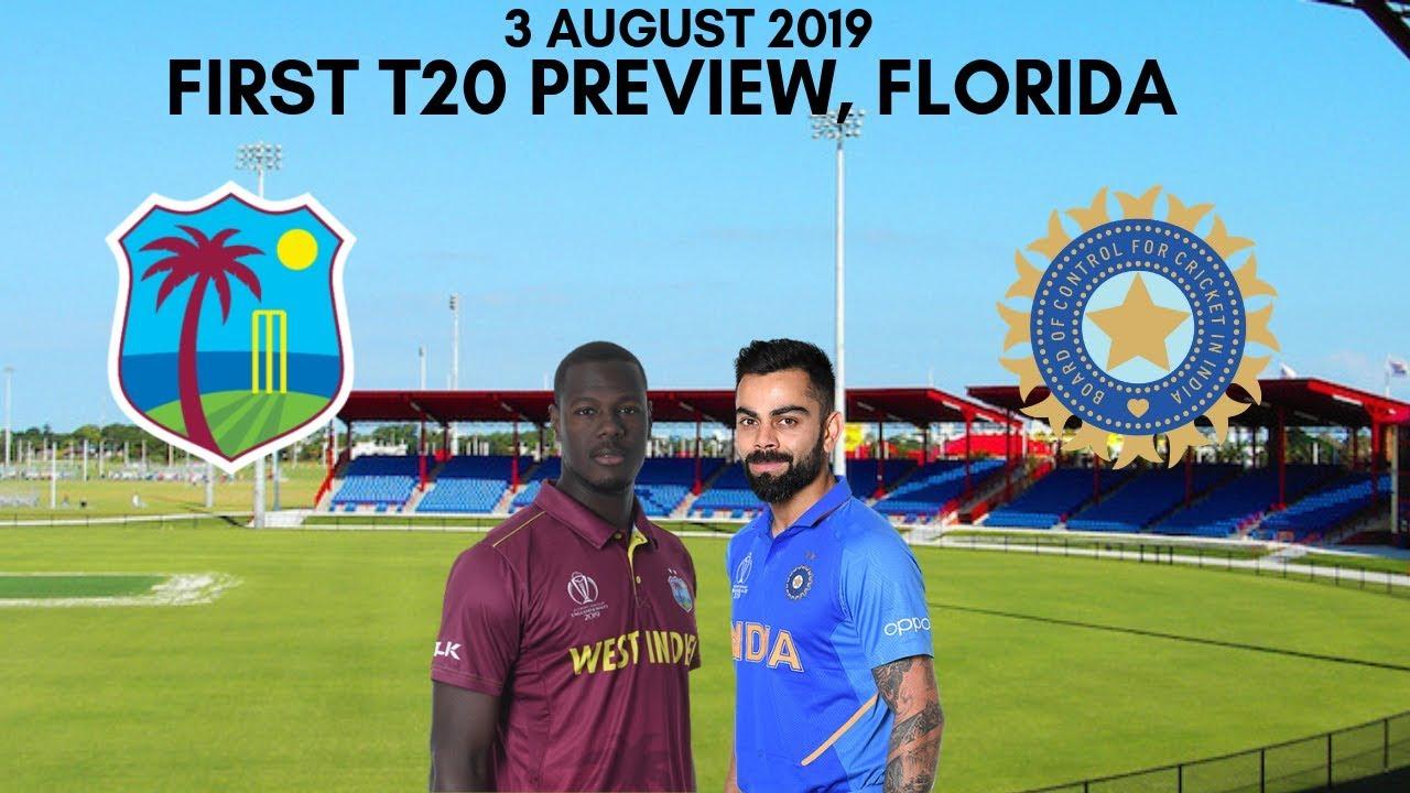 LIVE - IND vs WI 1st T20 Live Score, India vs West Indies