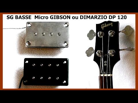 SG BASSE GIBSON  DIMARZIO DP120