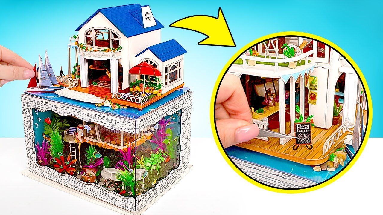 Villa subaquática DIY em miniatura