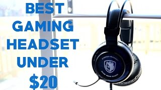 Sades SA-805 Unboxing & Review - BEST Gaming Headset Under $20?