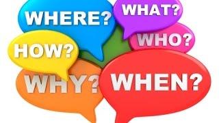 كيفية تكوين سؤال باستخدام when, where, what, how, who & why