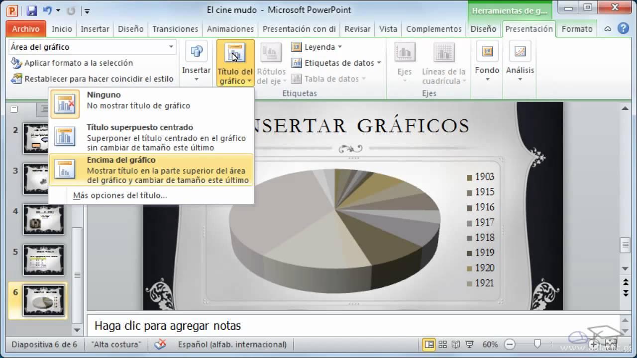 Curso de Microsoft PowerPoint 2010. 11. Gráficos. - YouTube