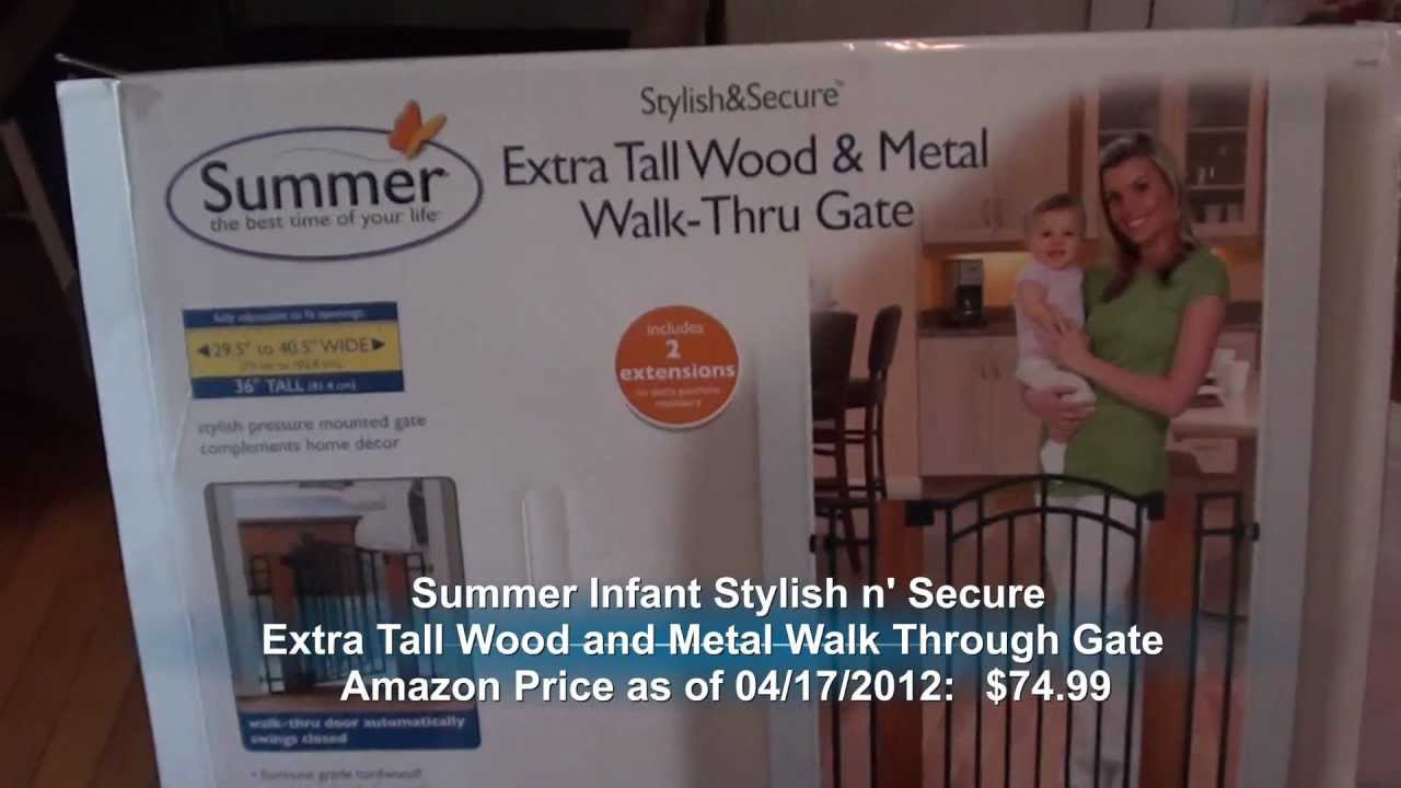 Summer Infant Stylish N Secure Extra Tall Wood And Metal
