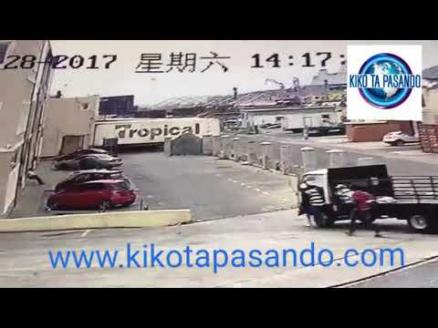 Video di momentu ku homber ta perde su bida na Sint Maarten