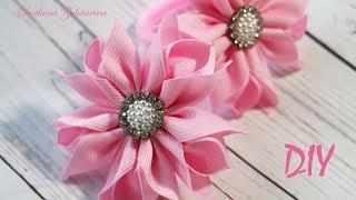 Lindas Flores de Fita de Gorgurão