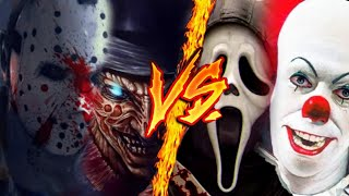 GhostFace Y Freddy Krueger VS Eso y Jason Voorhees | R.D.P | Zanat (Con RapAniMovie y Black)