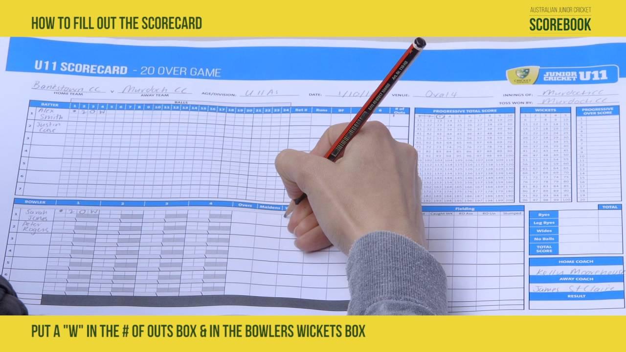 Australian Cricket Revised Junior Formats Junior Cricket Scorebook Youtube