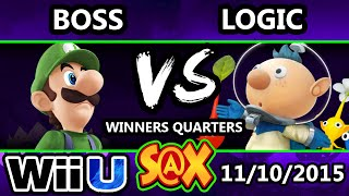 S@X 123 - VGBC | Logic (Olimar) Vs. Boss (Luigi) SSB4 Winners Quarters - Smash Wii U  - Smash 4