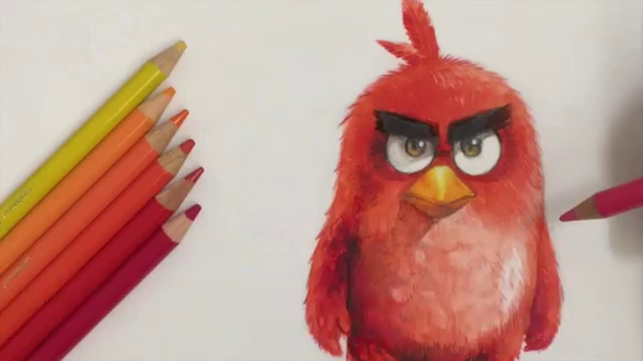 Drawing Angry Birds Movie: How To Draw RED In 3D [ANGRY BIRDS MOVIE] Drawing Tutorial