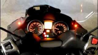 MP3 Piaggio Xenon retrofit + led blinkers + custom tail lights wiring