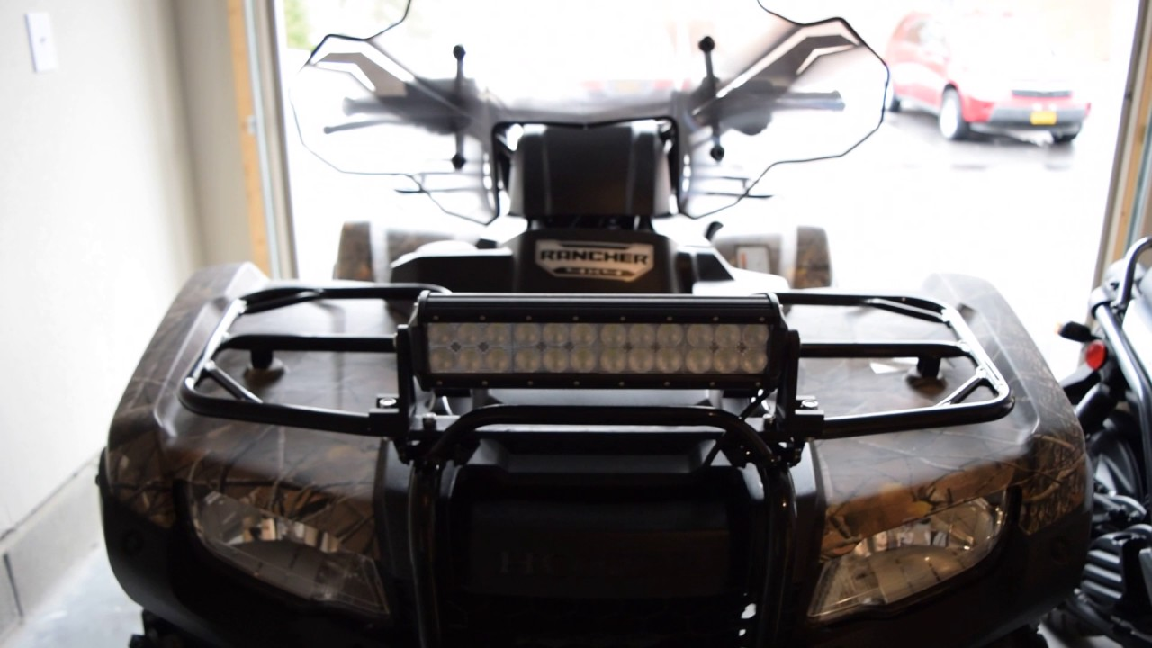 2015 honda rancher 12 inch led light bar installed youtube 2015 honda rancher 12 inch led light bar installed aloadofball Image collections