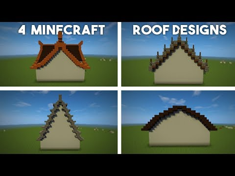 Minecraft Roof Tutorial 4 Designs Advanced Roofs Made Easy Youtube