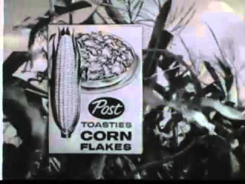 VINTAGE 1950s POST CEREAL COMMERCIAL - possible Jiminy Cricket voice artist CLIFF EDWARDS