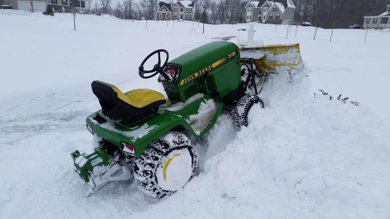 John Deere 316 Plowing Snow In The Quot Blizzard Of 2016