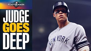 Aaron Judge BLASTS 2-run homer to put Yankees ahead in ALCS Game 2 vs. Astros | MLB Highlights