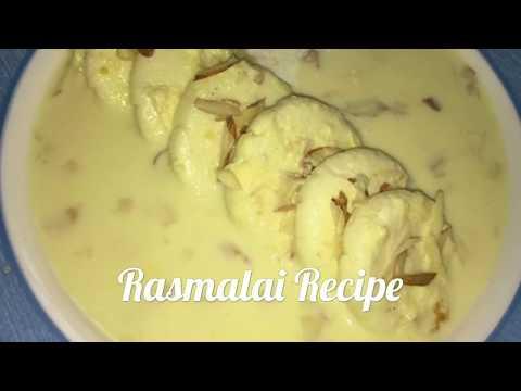 Rasmalai Recipe In Telugu With Home Made Paneer | Diwali Special Sweet | How to make Soft Rasmalai