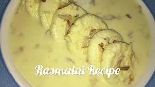 Rasmalai Recipe In Telugu With Home Made Paneer | Diwali Special Sweet | How to make Soft Rasmalai