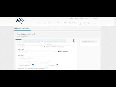 QUICK overview of ordering an SMSF trust Deed Update online with NTAA Corporate