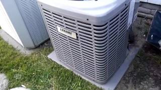 Both Trane And Luxaire Air Conditioners At my Friend's House Running On A Hot Humid Day