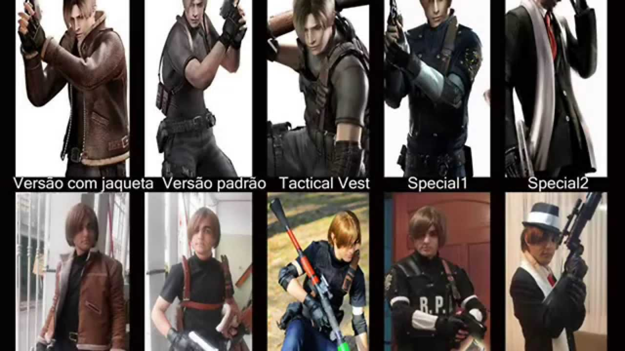 Leon S Kennedy Resident Evil 4 Old Cosplay Youtube