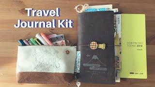 Travel Journal Kit | Minimal Art Supplies, Travelers Notebook + Hobonichi