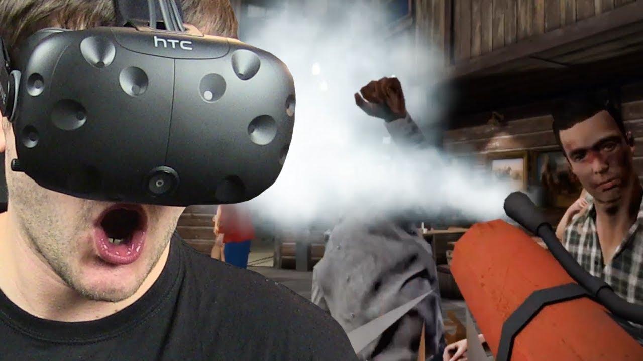 GAŚNICĄ W TWARZ – Drunkn Bar Fight – (HTC VIVE VR)