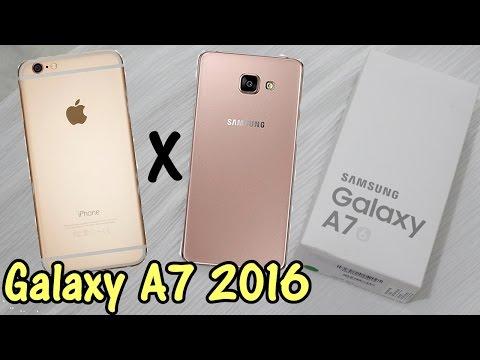 Meu Telefone - O Porquê Comprei o Galaxy A7 (2016) + Comparação Iphone 6 Plus