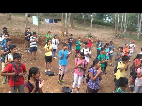 Kondajji Children Camp -- Stretching and warm up exercise