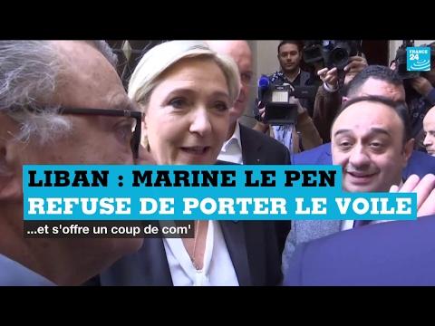90''POLITIQUE - Marine Le Pen au Liban : quand la candidate du FN refuse de se voiler
