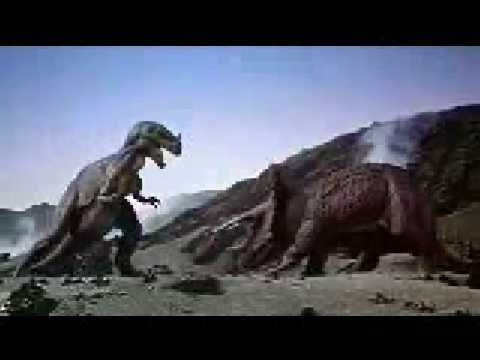 Ceratosaurus vs Triceratops from 1 Million Years BC.flv