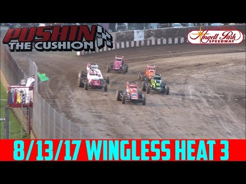 Angell Park Speedway - 8/13/17 - Wingless Sprints - Heat 3
