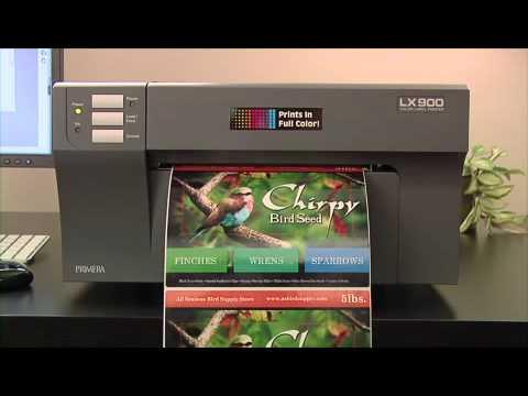 primera label lx900 color label printer youtube