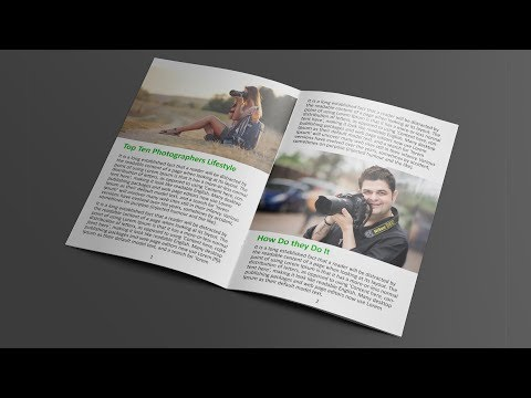 How To Layout Book & Magazine In Photoshop - Basic Tutorial For Beginners