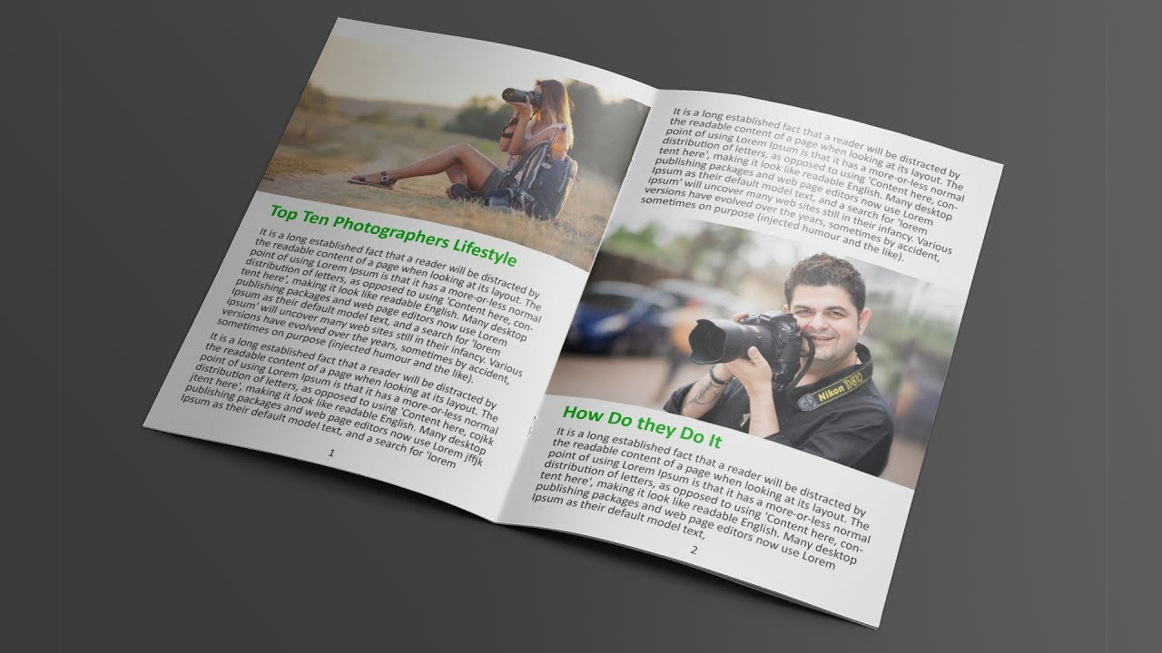 How To Layout Book Magazine In Photoshop Basic Tutorial For Beginners
