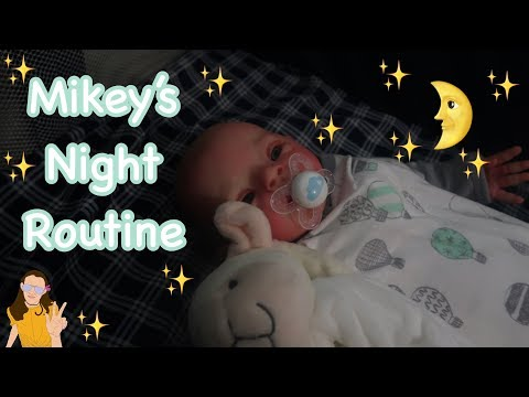 Reborn Baby Mikey's Night Routine | Kelli...