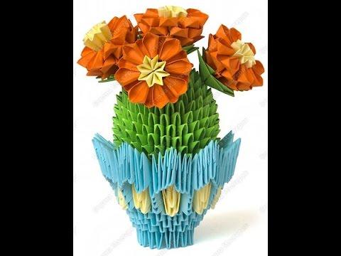 Кактусы. Модульное оригами.