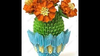 cacti. Modular origami. Master Class.Кактусы. Модульное оригами. Мастер класс