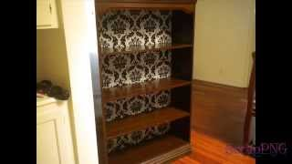 How To Diy Bookshelf Upcycle Redo Back Panel