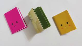 DIY Mini Notebooks from Single Sheet Of Paper - DIY Back To School