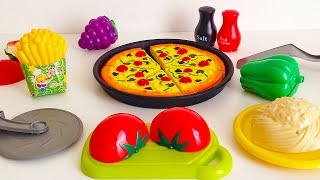 Toy Cutting Pizza Kitchen Playset - Cooking Toy For Children