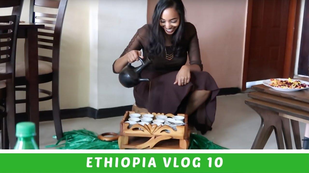Ethiopia Travel Vlog 10 Making Ethiopian Coffee ☕️ & Mini House Tour | Amena and Elias