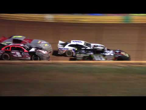 Modified street feature race. - dirt track racing video image