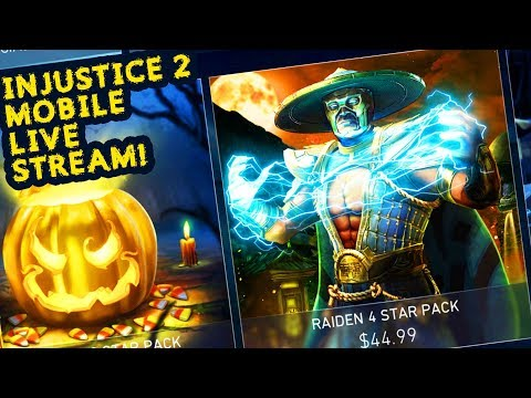 Injustice 2 Mobile LIVE. BUYING RAIDEN 4-STAR PACK! Is It Worth It? Powered Supergirl Challenge.