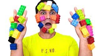 Ulya pretend play LEGO HANDS -يد ليغو