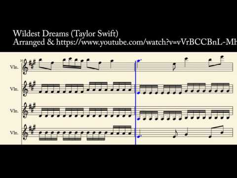 Wildest Dreams (Taylor Swift) - Violin Cover for 4 Violins - YouTube