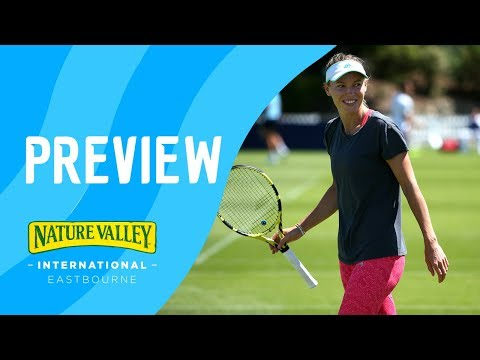 Nature Valley International stars practise ahead of main draw action