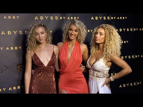 """Charly Jordan, Lauren Wood, Jena Frumes """"Abyss by Abby"""" USA Launch Party Black Carpet"""