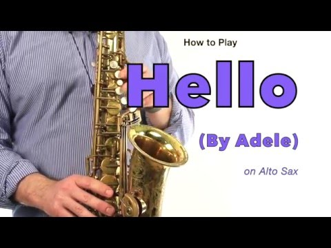 HELLO (Adele) for ALTO SAX